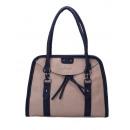 Shoulder bag with concealed zip pocket