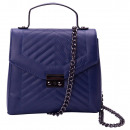Shoulder bag with fashionable quilting and chain