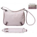 Großhandel Handtaschen: dariya® Basic - Umhängetasche beige mit braun