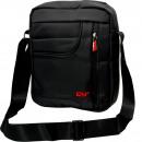 grossiste Sacs à main: sac à bandoulière  unisexe 100% nylon noir