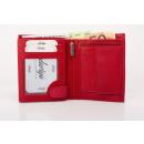 Pénztárca nappa bőr kombinált pénztárca piros uni