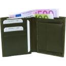 groothandel Tassen & reisartikelen: Portemonnee Nappa  Leather Wallet olijfgroen uni