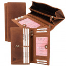 RFID Protection - Large Hunter Leather Women's