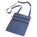 Großhandel Reiseartikel: Brustbeutel  Accessoires Lamm Nappa - navy blau