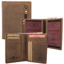 Großhandel Taschen & Reiseartikel: RFID Protected Hunterleder Kartenbörse