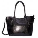 Großhandel Handtaschen: Henkeltasche / Umhängetasche schwarz