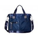 Large noble shoulder bag - blue - nylon
