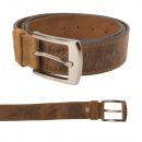 Großhandel Fashion & Accessoires: Leder Gürtel - 120 cm - selbst kürzbar