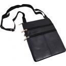 groothandel Tassen & reisartikelen: Brustbeutel  Accessoires lamsleer - zwart