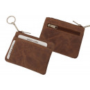 wholesale Handbags: Key pocket with two card slots in hunter leather