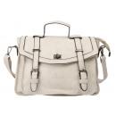 Small elegant shoulder bag / handle bag gray