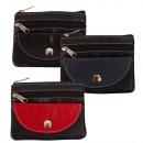 Großhandel Taschen & Reiseartikel: Schlüsseltasche mit Ring + Hartgeldfach - Nappa