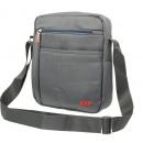 Shoulder bag unisex 100% nylon medium gray