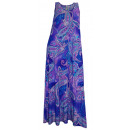 wholesale Dresses: Maxi Dress Paisley purple turquoise