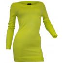 Großhandel Pullover & Sweatshirts: Longpullover  Feinstrick Stretch Pulli limone