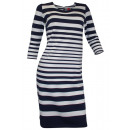 Travel Couture  sweatdress blue white