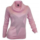 wholesale Pullover & Sweatshirts: Best Connections  Roll Collar Sweater star pink