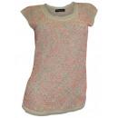 Großhandel Hemden & Blusen: Pailletten Tunika  beige orange Abendmode Bluse
