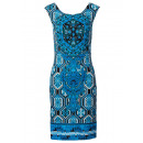 Print dress blue black
