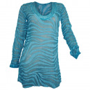 wholesale Shirts & Tops: Heine silk tunic turquoise printed