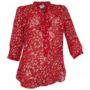 wholesale Shirts & Blouses: Chiffon blouse red  patterned tunic print blouse