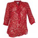 wholesale Fashion & Mode: Chiffon blouse red  patterned tunic Druckbluse