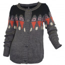 Women's winter  sweater gray colorful