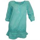 ingrosso Ingrosso Abbigliamento & Accessori: Tunica Longbluse menta lavato