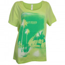 wholesale Shirts & Tops: Sheego shirt printing light green