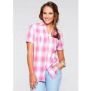 ingrosso Camicie: camicetta  camicetta a quadri bianco rosa