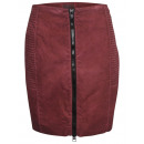 wholesale Skirts: Mandarin skirt  zipper bordeaux washed