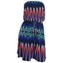 Großhandel Kleider: Minikleid schwarz blau Bandeau Kleid