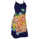 Großhandel Kleider: Badekleid blau  Strandkleid Schwimmkleid