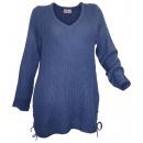 Großhandel Pullover & Sweatshirts: Sheego Grobstrick Pullover jeansblau
