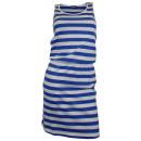 Großhandel Fashion & Accessoires: Sommerkleid  Streifen Minikleid blau weiß