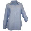 Großhandel Hemden & Blusen: Corley Hemdbluse  hellblau weiß gestreift