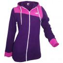 Großhandel Mäntel & Jacken: Ocean Sportswear  Fleecjacke mit Kapuze lila pink