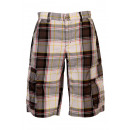wholesale Swimwear: Checked Bermuda  cargo pants black white gray