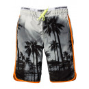 Cool boys swim shorts gray colorful
