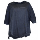 Aniston oversized  tunic pearl gray washed