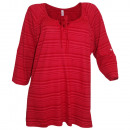wholesale Shirts & Tops: Sheego Longshirt striped red