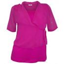 Großhandel Hemden & Blusen: Vivance 2in1 Blusenshirt fuchsia