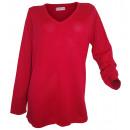 Großhandel Pullover & Sweatshirts: Sheego V-Neck Pullover rot