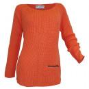 Rick Cardona  Ladies Chunky knit sweater orange