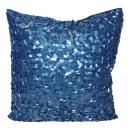 Kissenbezug blau  Pailletten 40 x 40 Kissenhülle De