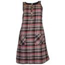 wholesale Dresses: Karo Mini Dress A-line schwarzbunt