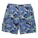 Großhandel Shorts: Herren Cargo  Bermudas blau bunt Canvas Druck Short