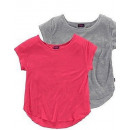 wholesale Childrens & Baby Clothing: 2 Pack Arizona  Girl T-Shirt hummer + gray