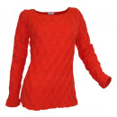Winter Grobstrick sweater plait orange