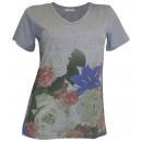Cheer shirt  printing gray colorful